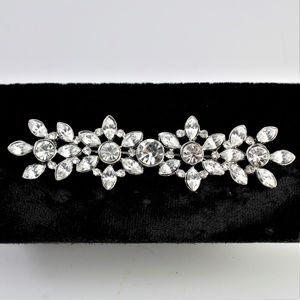Jewelry - Vintage '80's Clear Rhinestone Brooch